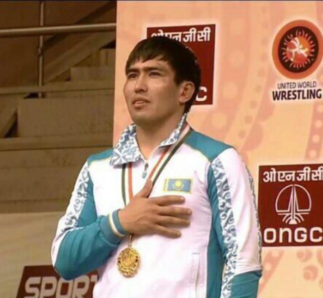 Борец из Атырау стал чемпионом Азии в Нью-Дели
