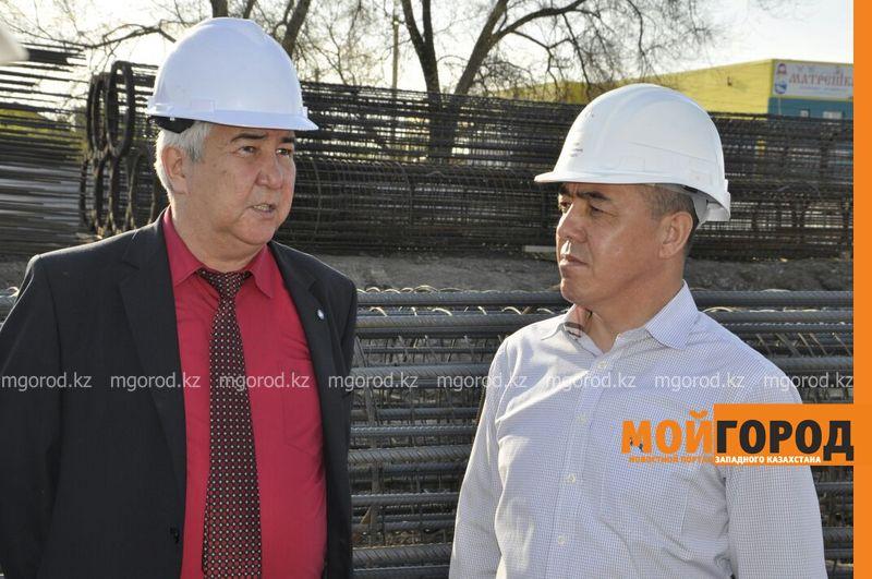 Строительство деповского моста в Уральске могут закончить раньше срока akim most (2)