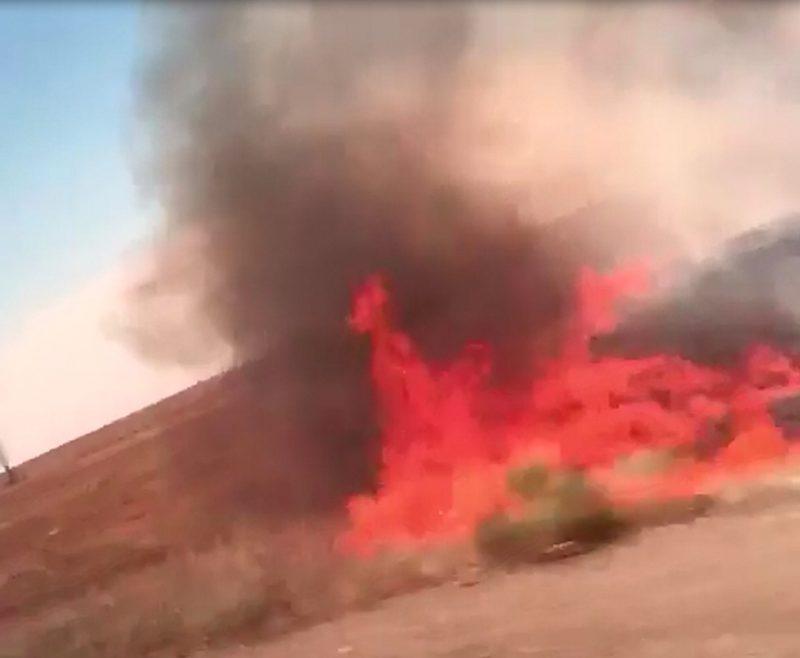 Новости - 60 гектаров степи выгорели в Атырауской области Скриншот с видео
