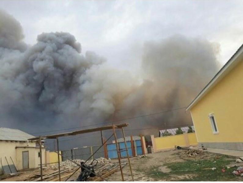 Новости Атырау - В Атырауской области от степного пожара пострадало 5 гектаров земли Фото с zello_atyrau