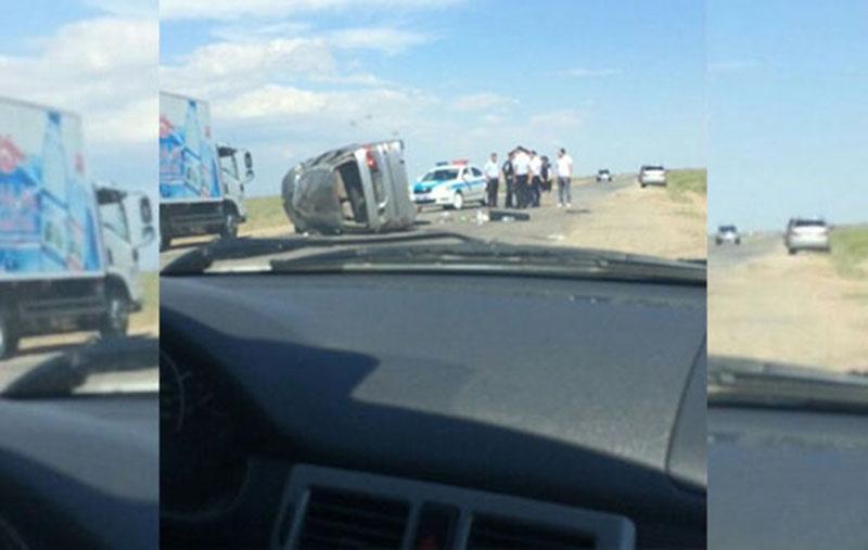 Страшное ДТП произошло в Атырауской области Фото из сообщества zello_atyrau