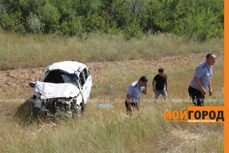 Новости Уральск - Двое мужчин погибли в ДТП на трассе Самара-Шымкент в ЗКО dtp trassa zko (2)