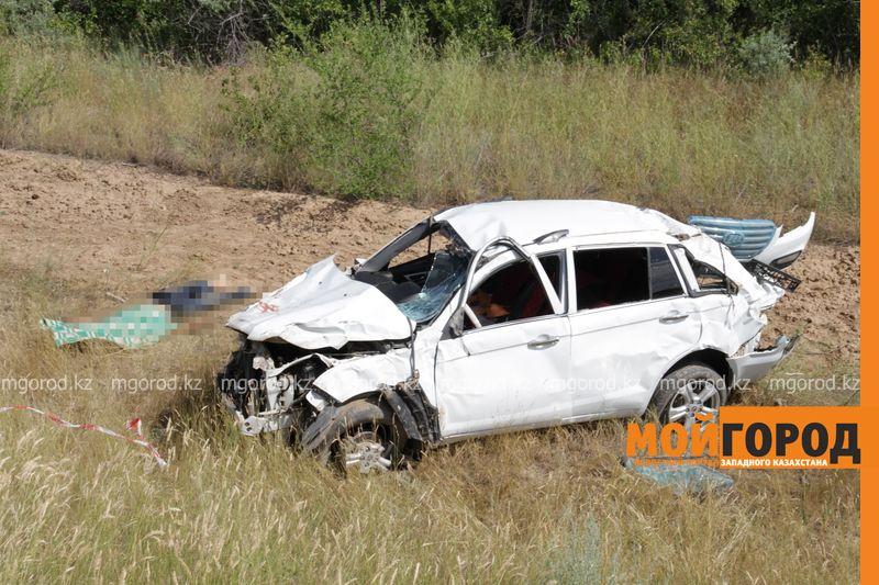 Новости Уральск - Двое мужчин погибли в ДТП на трассе Самара-Шымкент в ЗКО dtp trassa zko (3)
