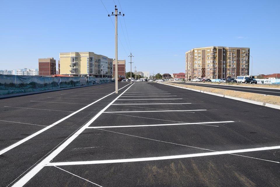Новости Атырау - Возле здания полиции в Атырау построили новую парковку Фото из социальных сетей