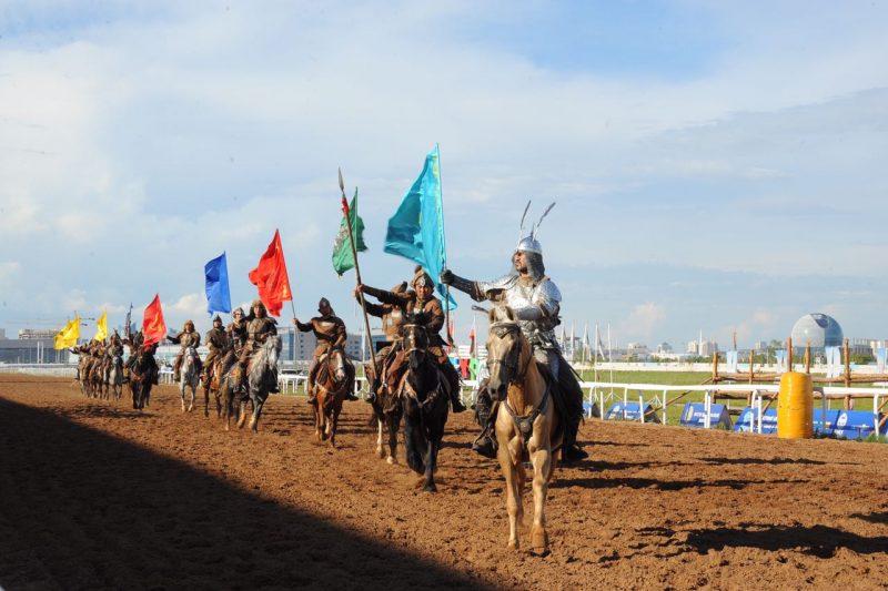 Новости Атырау - В Астане в рамках дней культуры Атырауской области прошли соревнования по байге IMG-20170721-WA0012