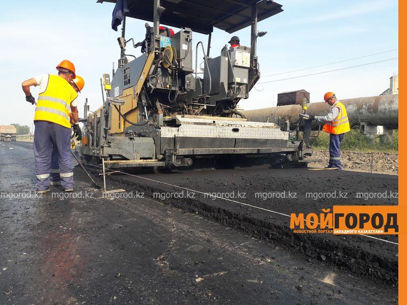 Новости Уральск - В Уральске начали укладывать асфальт по новой технологии asfalt (2)