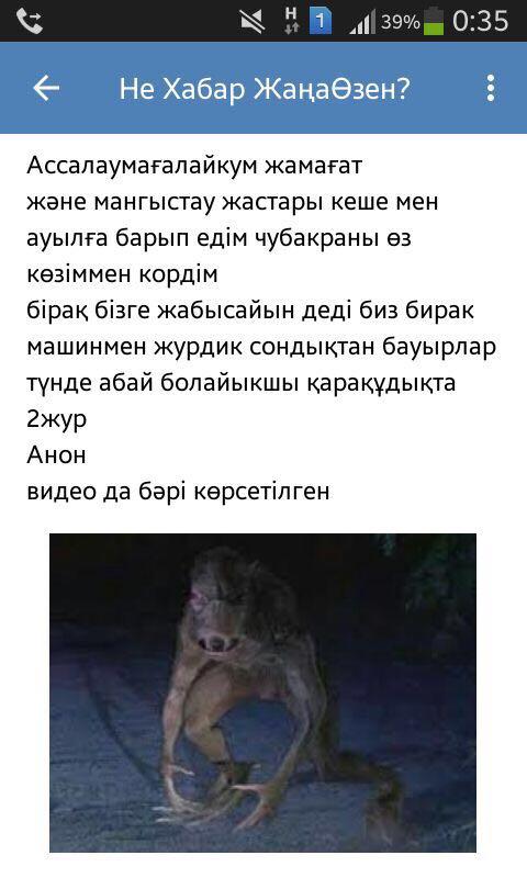"""Новости Актау - Жителей Мангистау напугала """"чупакабра"""""""