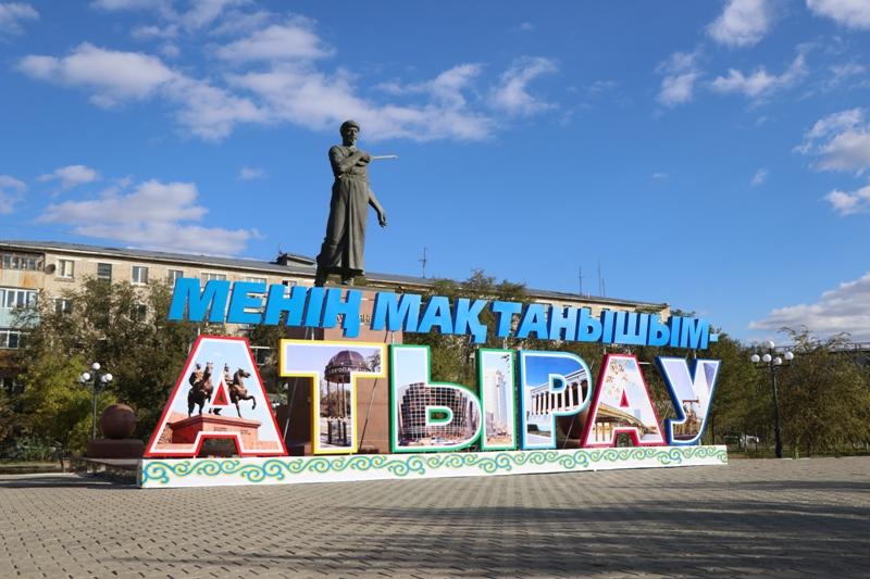Новости Атырау - 7 новых архитектурных композиций установили ко Дню города в Атырау