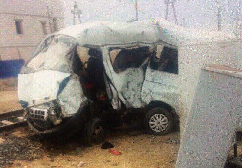 Новости Актау - 9 человек погибли при столкновении тепловоза с маршруткой в Мангистауской области