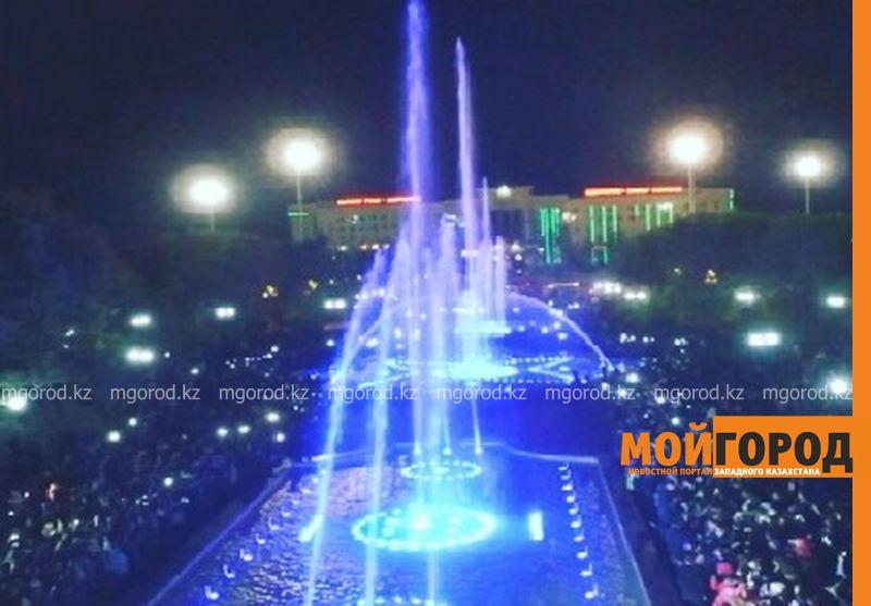 Новости Актобе - Аким Актобе рассекретил спонсора, который поставил возле акимата фонтан