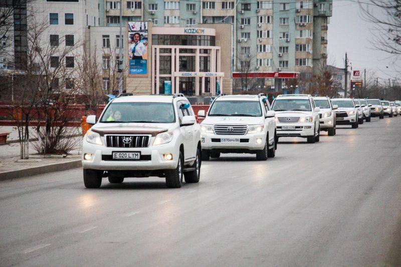 Новости Атырау - В Атырау прошел праздничный автопробег (видео)