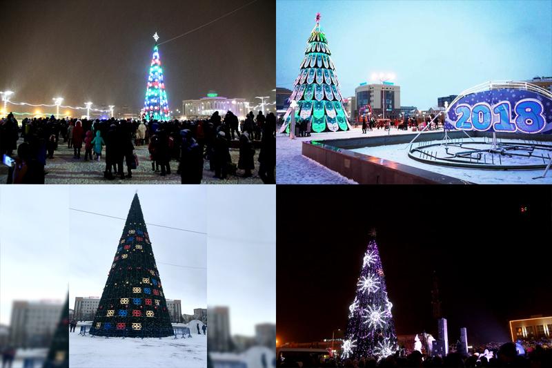 Выбираем самую красивую елку в Западном Казахстане