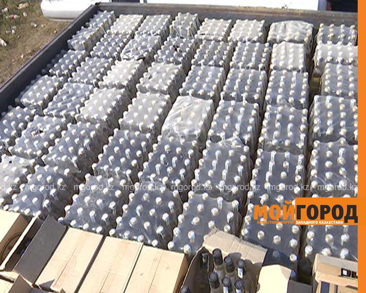348 тысяч бутылок поддельного алкоголя изъяли в ЗКО