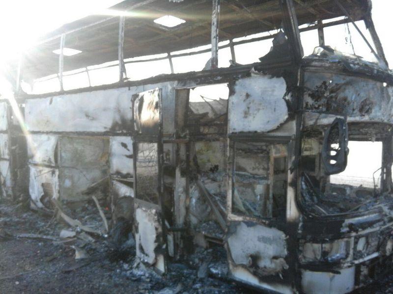 Новости Уральск - Тела погибших при возгорании автобуса доставят в морг Актобе