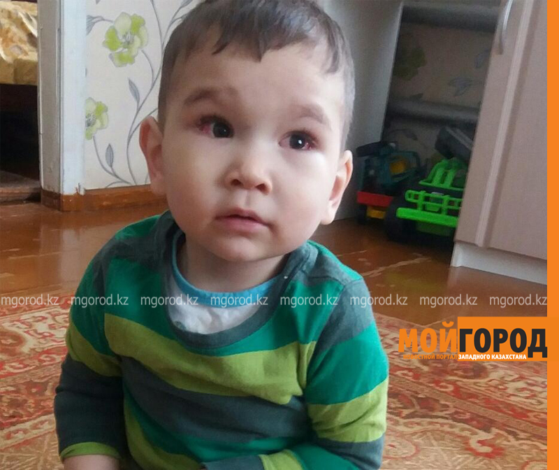 Новости Уральск - Более 8 млн тенге требуется на лечение рака глаз малышу из Уральска