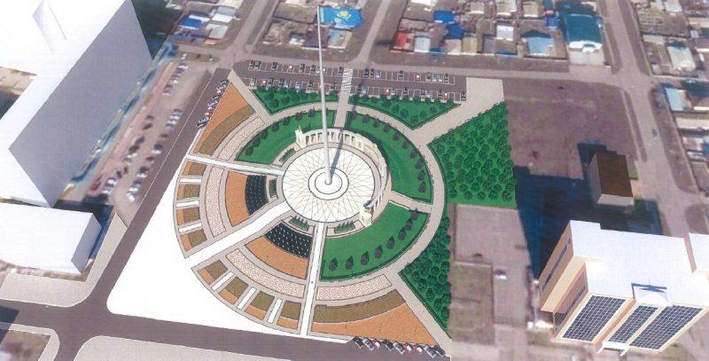Новости Атырау - 90-метровый флагшток установят в самом центре Атырау