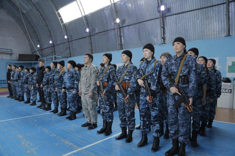 Новости Атырау - В Атырау 35 девушек-полицейских проходят курсы повышения квалификации