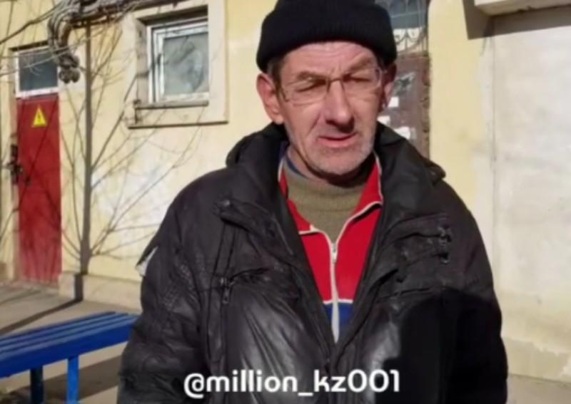 О своей мечте - жить в нормальных условиях - рассказал бомж из Атырау (видео)