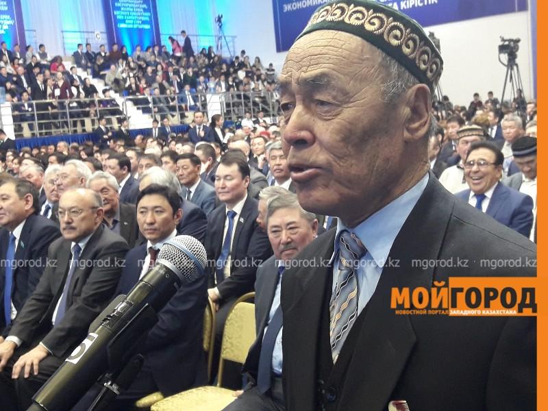 Новости Атырау - На отчете перед населением Нурлану Ногаеву прочитали бата (видео)