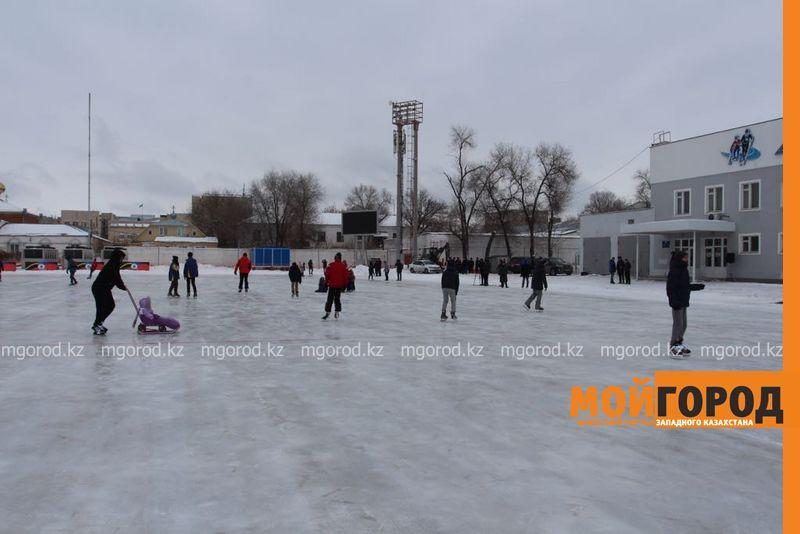 В Зачаганске открылся бесплатный каток