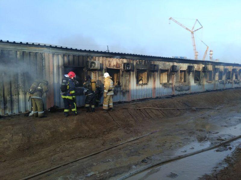 Новости Атырау - В тяжелом состоянии находится рабочий, пострадавший при пожаре в вахтовом общежитии Атырау