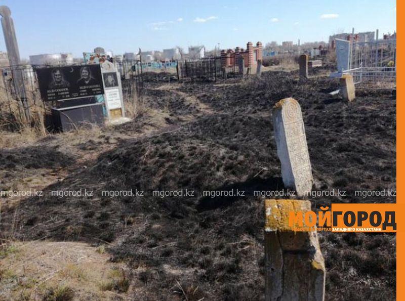 Новости Уральск - В Уральске горело кладбище (фото, видео)