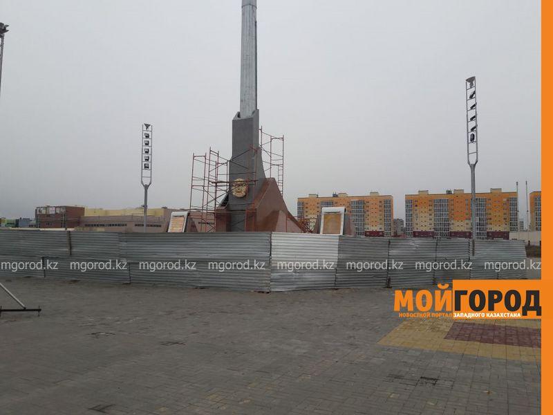 В Уральске начали ремонт нового монумента Независимости