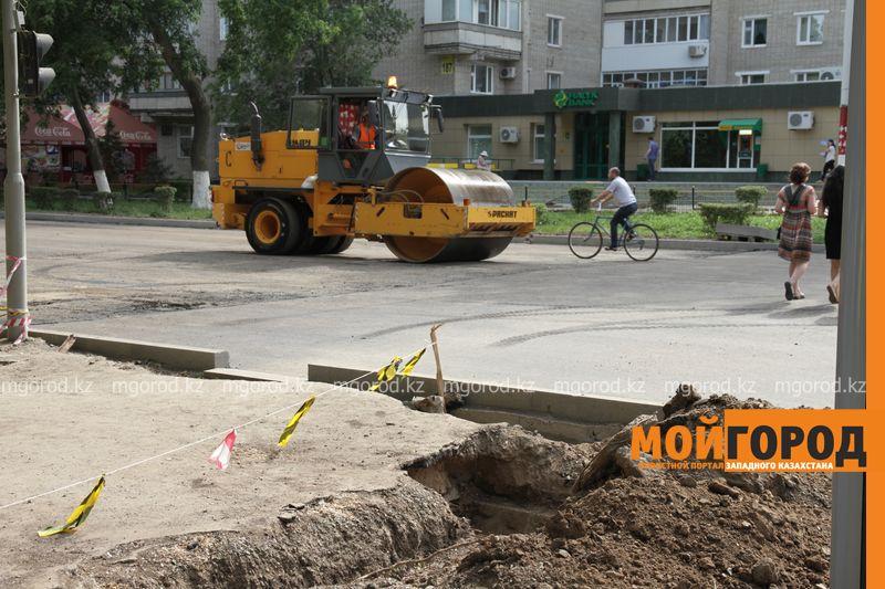 Новости Уральск - В Уральске ремонт проспекта Достык завершится в 2018 году