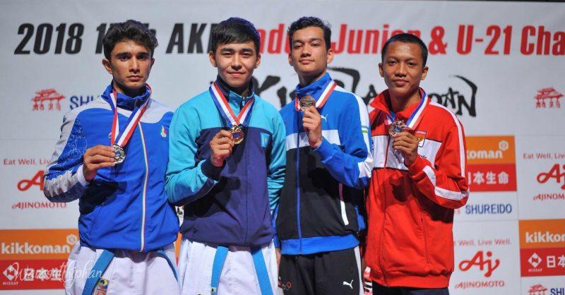 Новости Атырау - Атырауский каратист завоевал первую лицензию на Юношеские Олимпийские игры