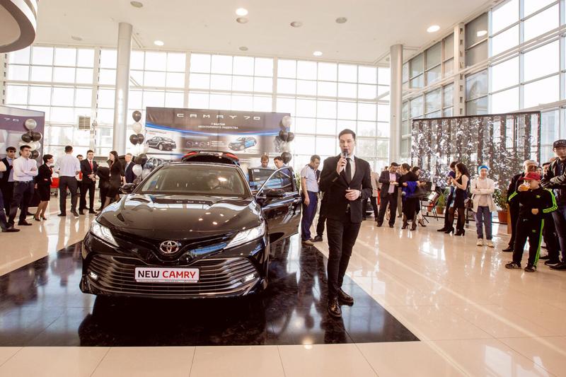 Новости Атырау - В Атырау презентовали новую Toyota Camry 70