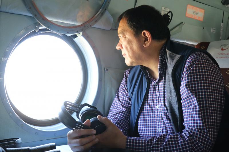 Новости Атырау - Нурлан Ногаев проверил работу по борьбе с браконьерством с высоты