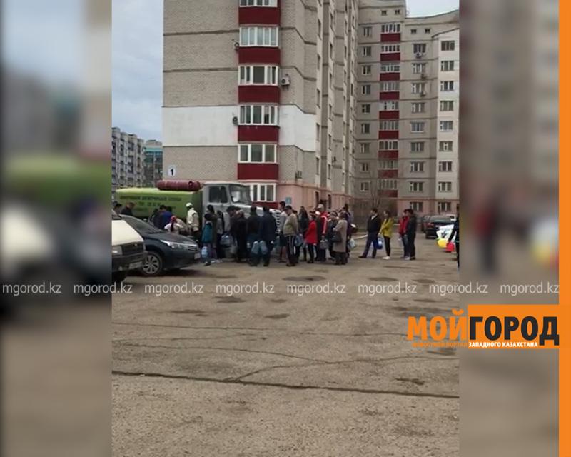 Новости Уральск - Половина Уральска осталась без воды: подвоз организован во дворы города (видео)