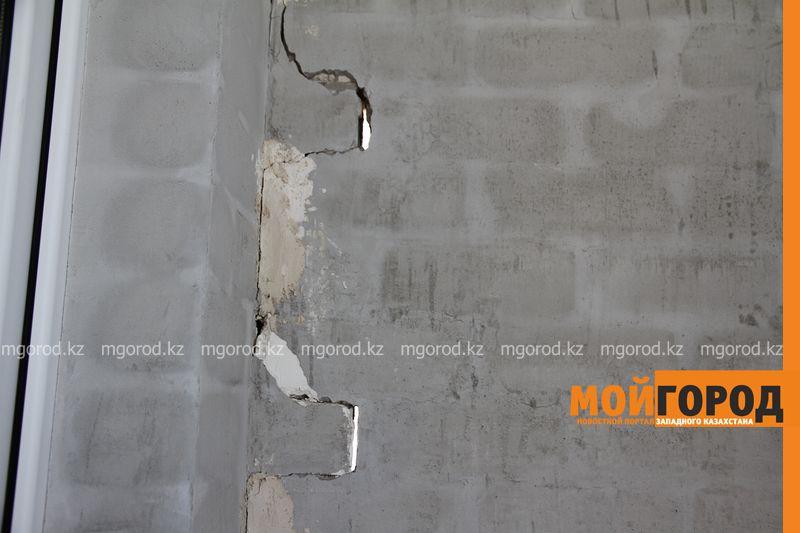 Новости Уральск - В новостройке Уральска балкон отходит от стены