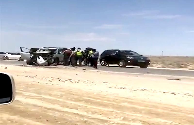 Новости Актау - В Актау столкнулись самосвал и внедорожник: погибли два человека