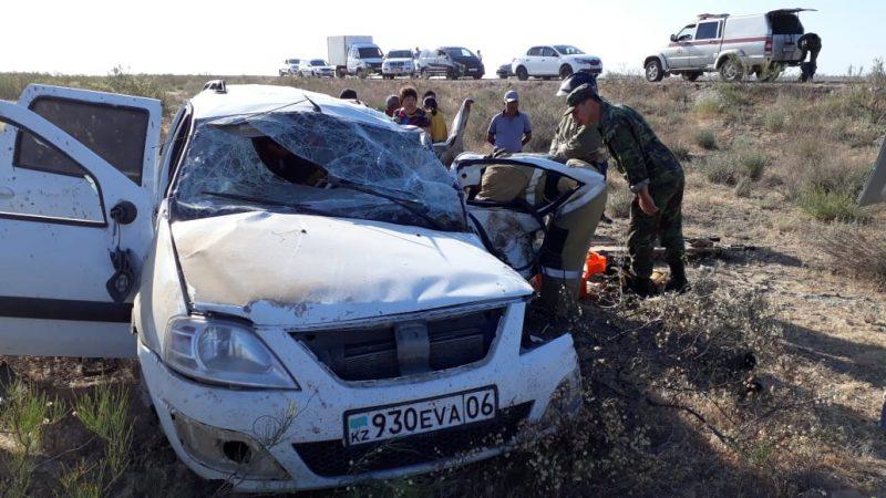 Новости Атырау - Два человека погибли в аварии на трассе Атырау-Астрахань