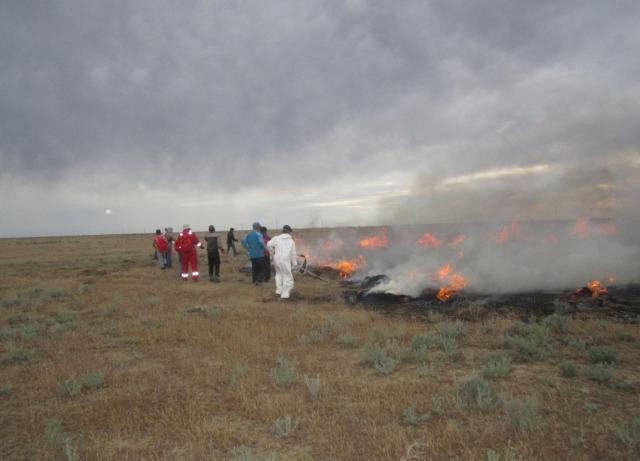 В Атырау для борьбы со степными пожарами создано 89 добровольных отрядов