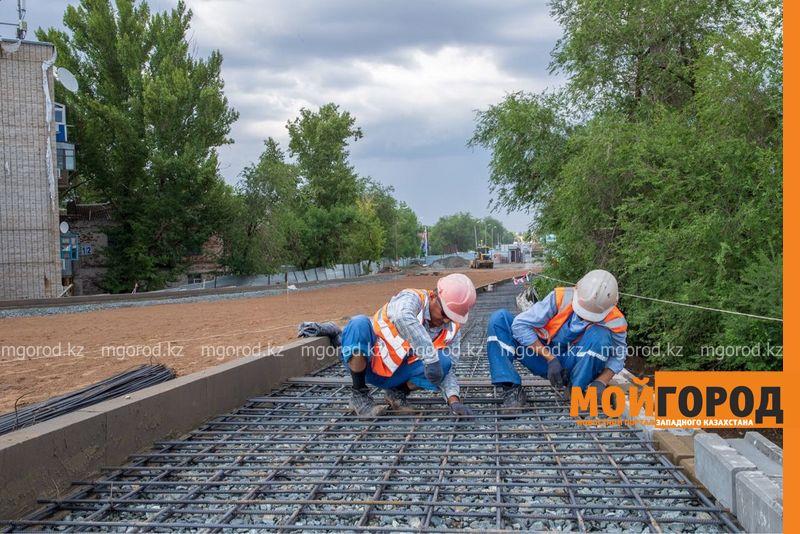 Новости Уральск - Работы на деповском мосту в Уральске завершены на 92%