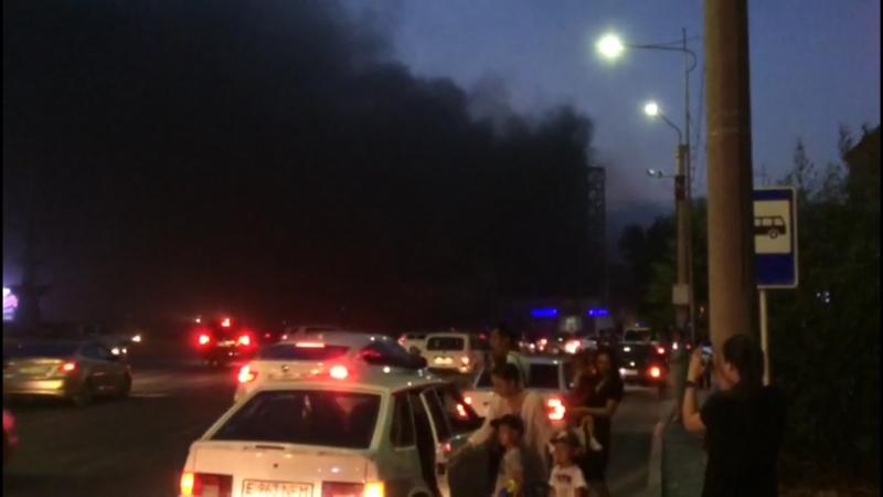 """7 часов тушили пожар в ресторане гостиницы """"Ак Жайык"""" в Атырау"""