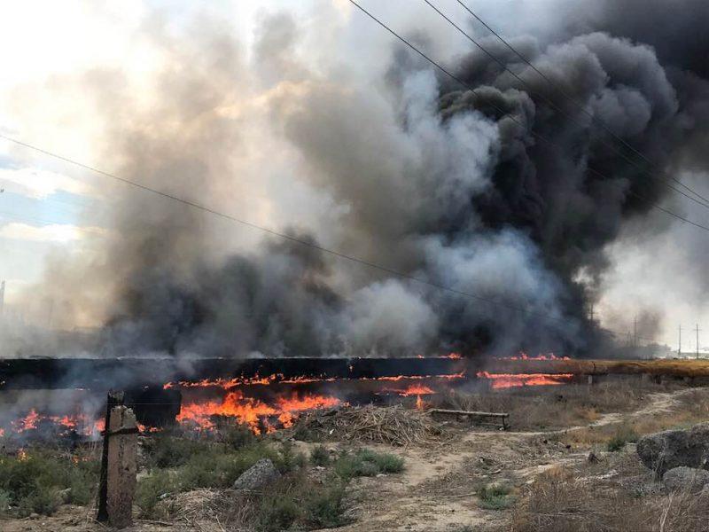 Новости Атырау - В Атырау произошло возгорание теплотрассы