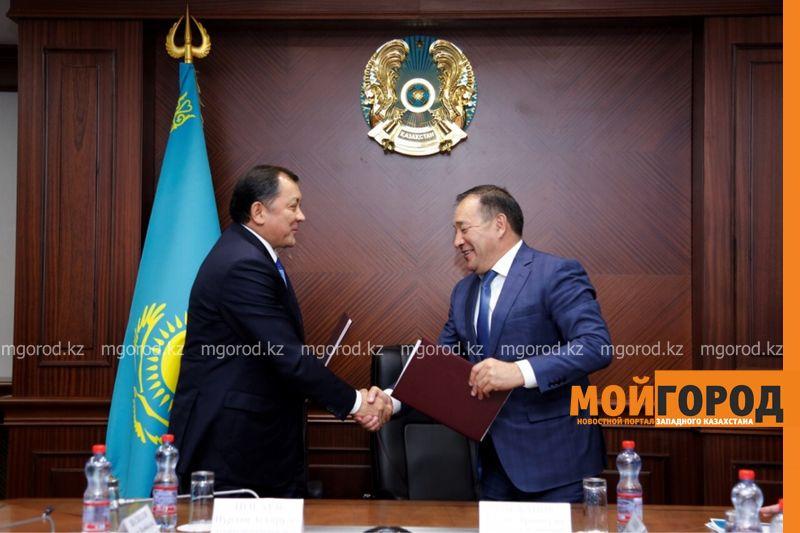 Новости Атырау - Акиматы Атырауской и Мангистауской областей подписали меморандум о сотрудничестве