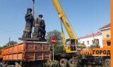 В Уральске памятник Курмангазы и Дине перенесли на другое место