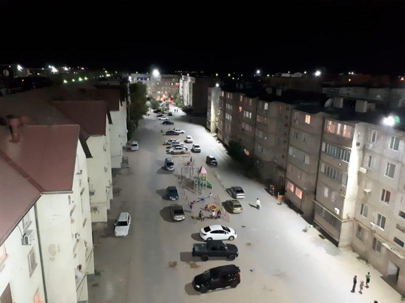 Новое освещение появилось в 88 дворах жилых домов в г.Кульсары Атырауской области