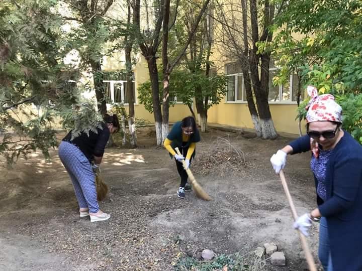 Новости Атырау - 7 тысяч горожан вышли на городской субботник в Атырау