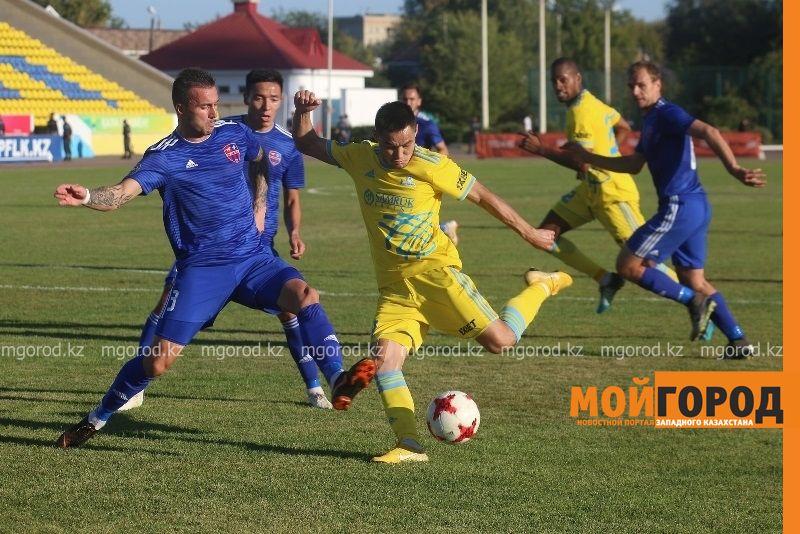ФК «Акжайык» сыграет стыковые матчи за право выхода в Премьер-лигу