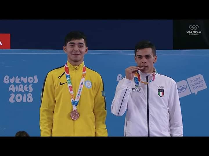 Новости Атырау - Атырауский каратист привез бронзу с юношеских Олимпийских игр