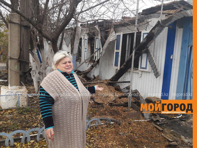 В Уральске жительница сгоревшего дома просит помощи