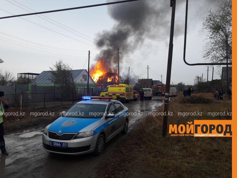 Новости Уральск - В Уральске дотла сгорел частный дом (видео)