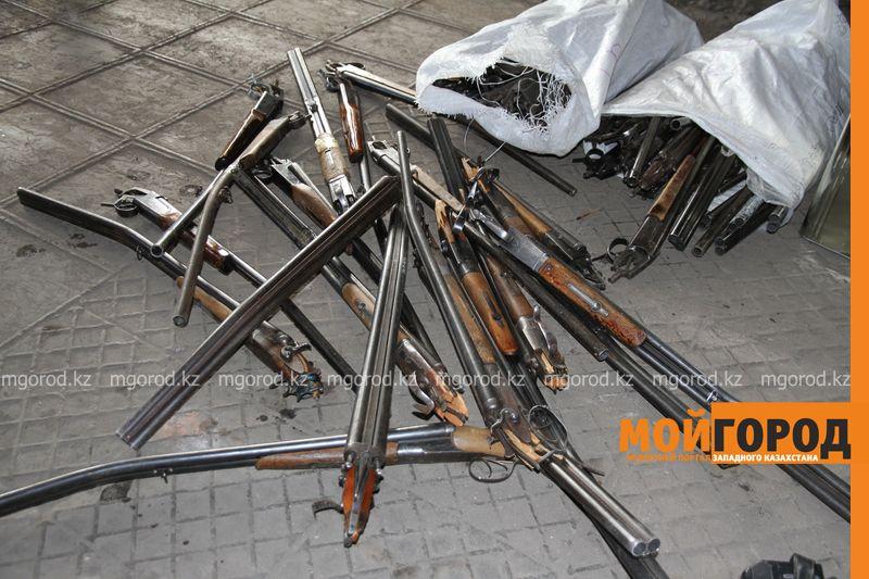 Новости Актобе - 17 единиц незарегистрированного оружия изъяли полицейские Актобе