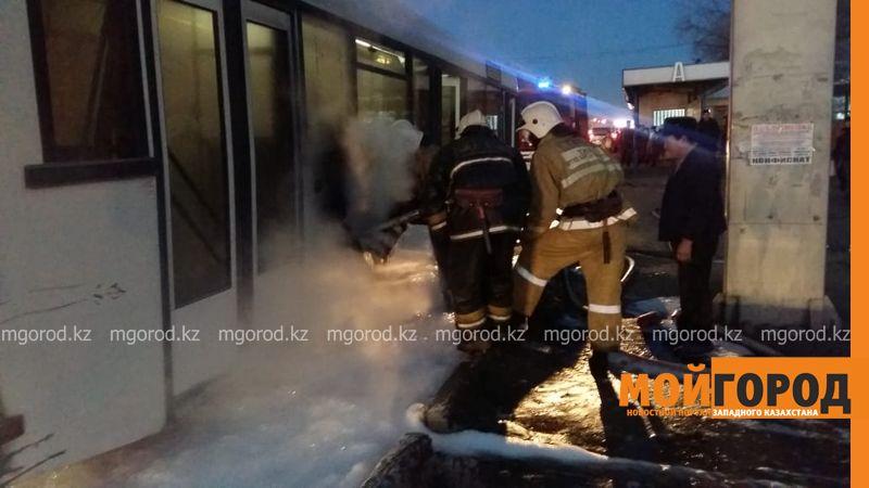 Новости Уральск - В Уральске загорелся пассажирский автобус