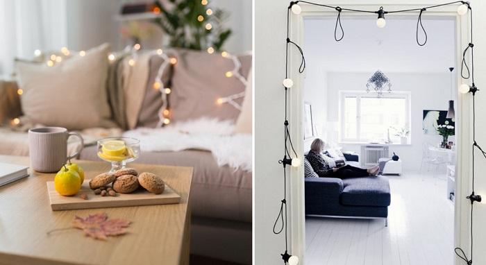 Новости PRO Ремонт - Как красиво украсить комнату гирляндой